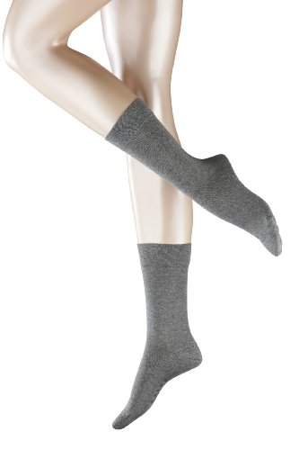 2 Paar FALKE Sensitive London Damensocken, 98% Baumwolle (35-38, greymix)