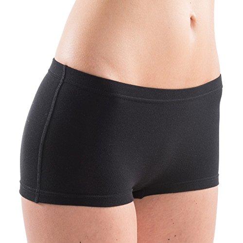 2 x 65700 Damen atlethic Panty als Funktionswäsche exclusive by HERMKO, Farbe:schwarz, Größe:40/42 (M)