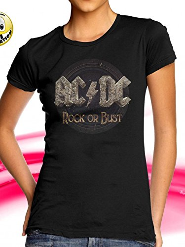 AC/DC T-SHIRT GIRLIE ROCK OR BUST GR: M NEW ALBUM NEU