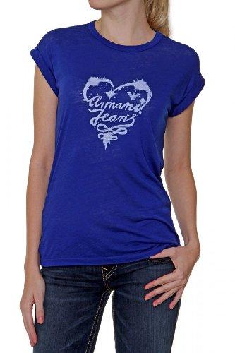 AJ - Giorgio Armani Jeans Damen Shirt ärmelloses T-Shirt HEART, Farbe: Dunkelblau, Größe: 44