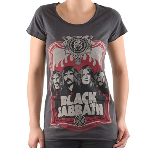 Amplified - Black Sabbath Damen T-Shirt - Crew (Grau) (S-XL) (X-Large)