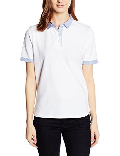 Armani Jeans Damen Regular Fit Poloshirt C5M43XY, Gr. 34 (Herstellergröße: 40), Weiß (BIANCO - WHITE 10)