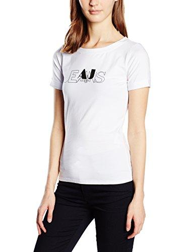 Armani Jeans Damen T-Shirt C5H21AB, Gr. XX-Small (Herstellergröße: 38), Weiß (BIANCO - WHITE 10)