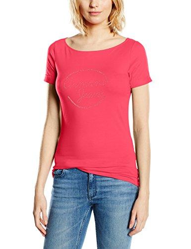 Armani Jeans Damen T-Shirt C5H45AB, Gr. Medium (Herstellergröße: 44), Rosa (FUXIA PA)