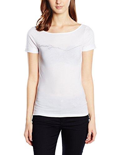 Armani Jeans Damen T-Shirt C5H67PX, Gr. Large (Herstellergröße: 46), Weiß (BIANCO - WHITE 10)