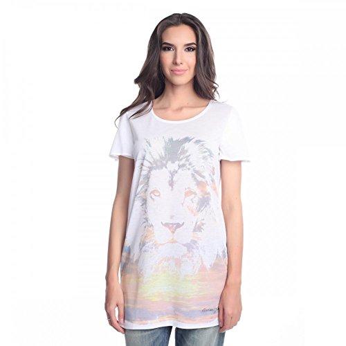 Armani Jeans Damen T-Shirt V5H35PL, Größe:40;Farbe:Weiß