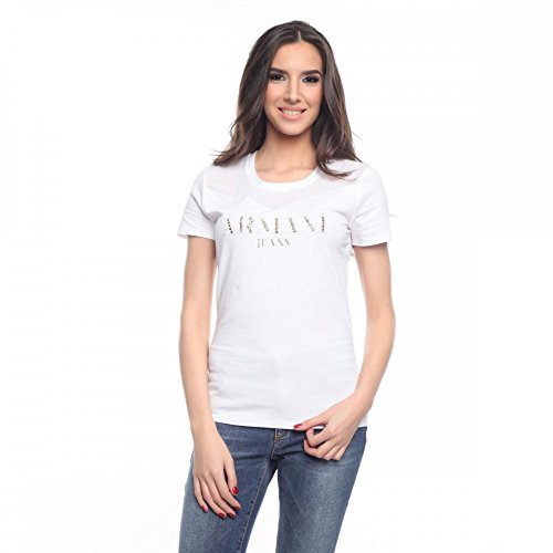 Armani Jeans Damen T-Shirt V5H51AB, Größe:46;Farbe:Weiß