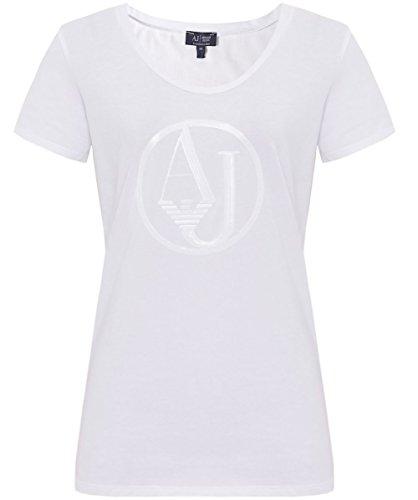 Armani Jeans Pailletten Logo T-Shirt Weiß DE36 / UK10