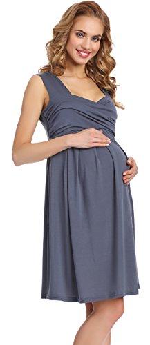 Be Mammy Damen Umstandskleid Tess (Graphite, S)