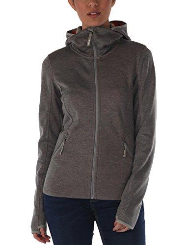 Bench Damen Pullover Strickjacke Symbolic grau (Stormcloud Marl) X-Large