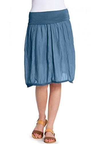CASPAR RO002 Damen Baumwoll Seiden Rock , Farbe:jeans blau