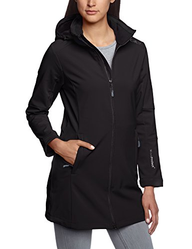 CMP Damen Softshellmantel Zip Hood, nero, 38, 3A08326