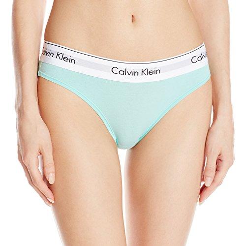 Calvin Klein Damen Bikinihose, Baumwolle Gr. L, Summer Pine