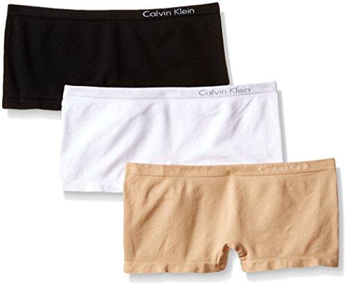Calvin Klein Damen Panty Mehrfarbig Mehrfarbig Gr. S, Mehrfarbig - Black/White/Bare