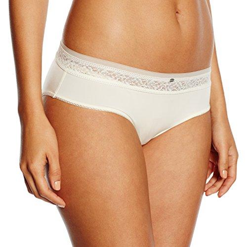 Calvin Klein underwear Damen Pant  0000F3325E / HIPSTER W/LACE, Gr. 38 (M), Elfenbein (101 IVORY)