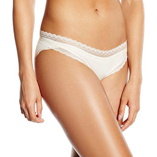 Calvin Klein Damen Panties BIKINI, Gr. 38 (Herstellergröße: L), Elfenbein (IVORY 101)