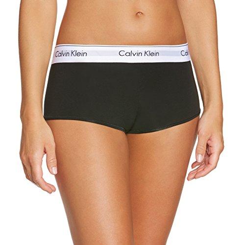 Calvin Klein Damen Panties MODERN - SHORT, Einfarbig, Gr. 36 (Herstellergröße: S), Schwarz (BLACK 001)