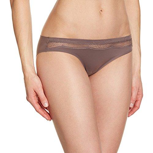 Calvin Klein Damen Panties PERFECTLY FIT - BIKINI, Einfarbig, Gr. 38 (Herstellergröße: M), Braun (SMOKE 39S)