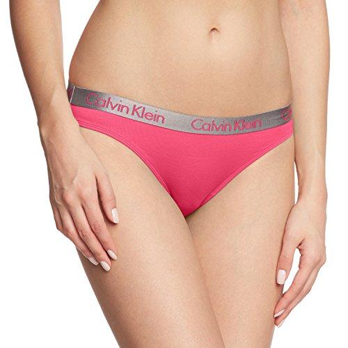 Calvin Klein Damen Panties RADIANT COTTON - BIKINI, Einfarbig, Gr. 40 (Herstellergröße: L), Rosa (SPLENDOR PINK PK7)