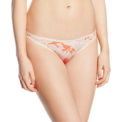 Calvin Klein underwear Damen Panties SEDUCTIVE COMFORT - BIKINI, Geblümt, Gr. 38 (Herstellergröße: M), Rosa (MOVEMENT FLORAL PRINT MV6)
