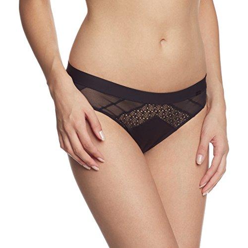 Calvin Klein underwear Damen Panty CK FIERCE - BIKINI, Einfarbig, Gr. 42 (Herstellergröße: XL), Schwarz (BLACK 001)