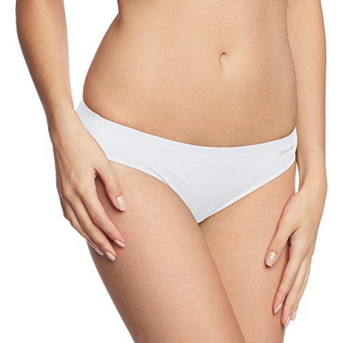 Calvin Klein Damen Slip PERFECTLY FIT - BIKINI, Einfarbig, Gr. 36 (Herstellergröße: S), Weiß (WHITE 100)