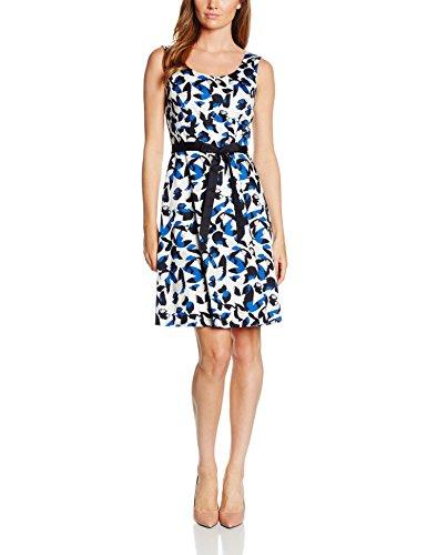 Comma Damen Kleid 89.606.82.3279, Mehrfarbig (Blue Aop 55A8), 36