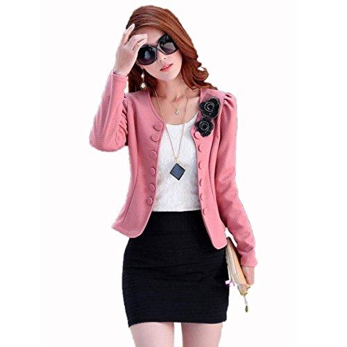 Damen Blazer Jacke Business Anzug Freizeitblazer