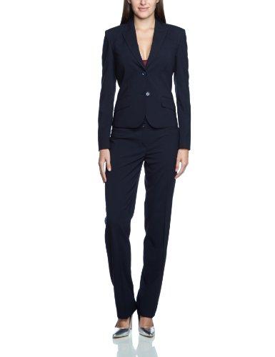 ESPRIT Collection Damen Blazer Regular Fit 993EO1G902, Gr. 44, Blau (408 DK NAVY)