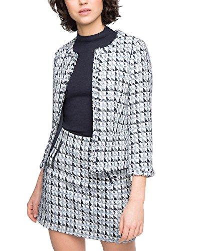 esprit collection damen blazer tweed gr 44 mehrfarbig. Black Bedroom Furniture Sets. Home Design Ideas