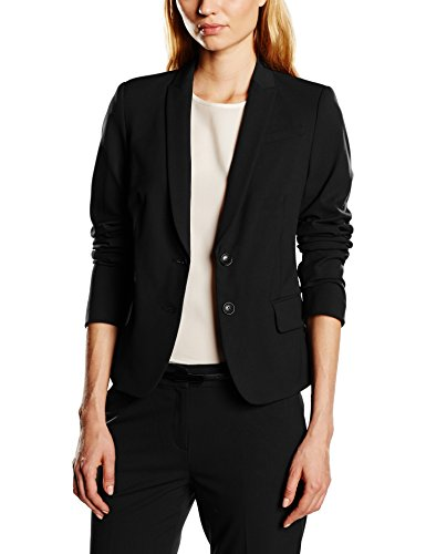 ESPRIT Collection Damen Blazer mit Stretch, Gr. 44, Schwarz (BLACK 001)