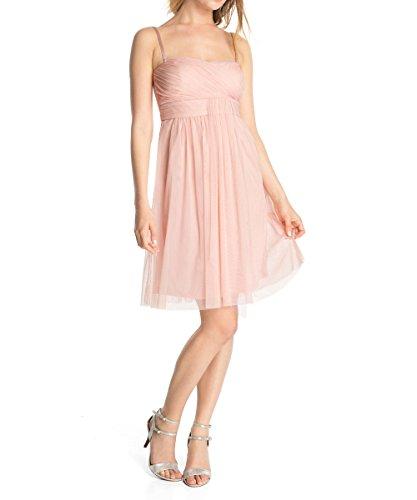 ESPRIT Collection Damen Cocktail Kleid mit Tüll Einsatz ...