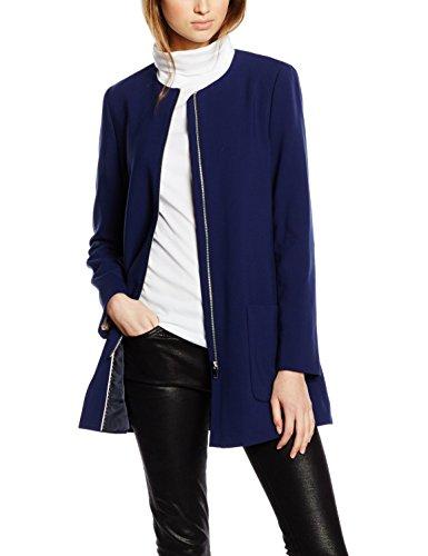 ESPRIT Collection Damen Jacke mit Stretch, Gr. 34, Blau (NAVY 400)