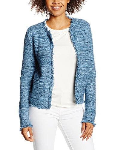 ESPRIT Collection Damen Strickjacke 046EO1I014, Gr. 38 (Herstellergröße: M), Blau (BRIGHT BLUE 410)