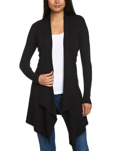 ESPRIT Collection Damen Strickjacke 993EO1I900, Gr. 40 (L), Schwarz (001 black)