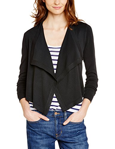 ESPRIT Collection Damen Strickjacke 995EO1I902, Einfarbig, Gr. 36 (Herstellergröße: S), Blau (DARK NAVY 420)