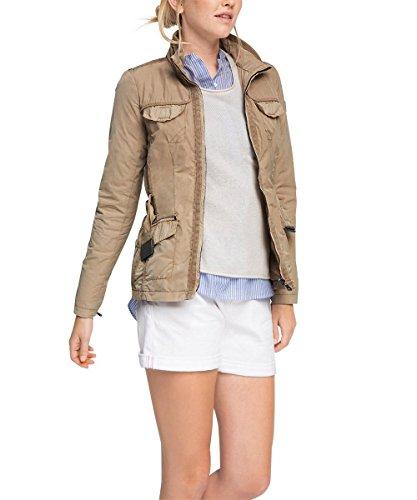 ESPRIT Damen Jacke mit Taillierung, Gr. 38, Beige (BEIGE 270)