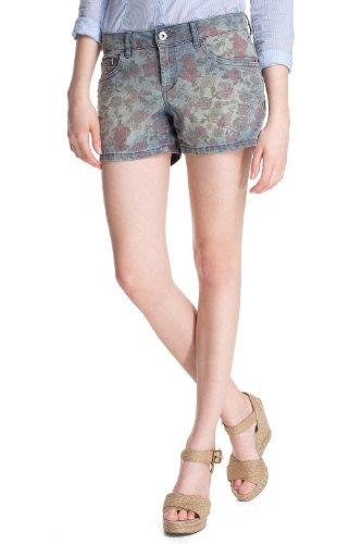 ESPRIT Damen Jeans Short Normaler Bund, D21093, Gr. 31, Blau (blue bleached denim 999)