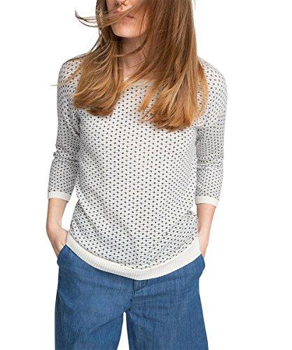 ESPRIT Damen Pullover mit Print, Gr. 38 (Herstellergröße: M), Mehrfarbig (OFF WHITE 3 112)