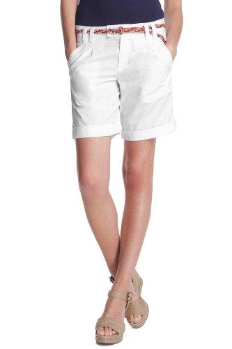 ESPRIT Damen Short Normaler Bund, D21186, Gr. 40 (L), Weiß (white 100)