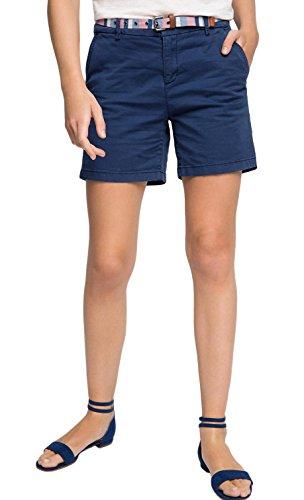ESPRIT Damen Short 046EE1C003-mit Gürtel, Blau (Navy 400), 42