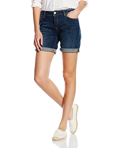 ESPRIT Damen Short 056EE1C001-mit Stretch, Blau (Blue Medium Wash 902), W27