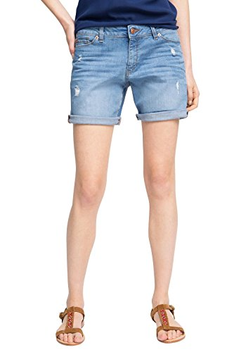 ESPRIT Damen Short 056EE1C009-mit Stretch, Blau (Blue Medium Wash 902), W32
