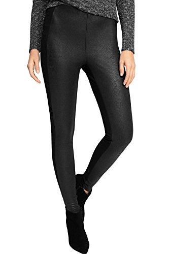 ESPRIT Damen Skinny Hose mit Struktur, Gr. 34/L29 (Herstellergröße: XS), Schwarz (BLACK 001)