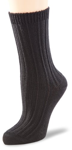 ESPRIT Damen Socken Basic Structure, Gr. 39/42, Schwarz (black 3000)