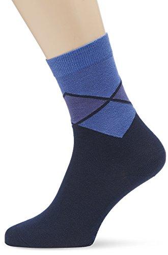 ESPRIT Damen Socken Duo Argyle, Gr. 35/38, Blau (marine 6120)