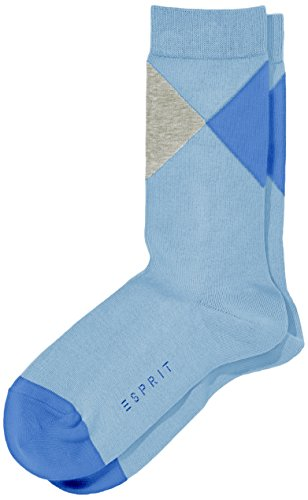 ESPRIT Damen Socken New Argyle, Gr. 39/42, Blau (steelblue 6281)