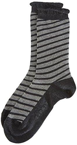 ESPRIT Damen Socken Transverse, Gr. 39/42, Grau (anthrazit meliert 3080)