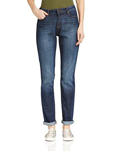ESPRIT Damen Straight Leg Jeans mit schöner Waschung, Gr. W30/L32, Blau (DEEP OCEAN 485)