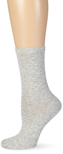 ESPRIT Damen Strick Socken Filet Rhomb, Gr. 39/42, Grau (storm grey 3820)